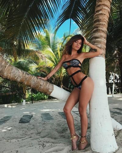 Chiara Nasti in Bikini in Messico, 19 gennaio 2017
