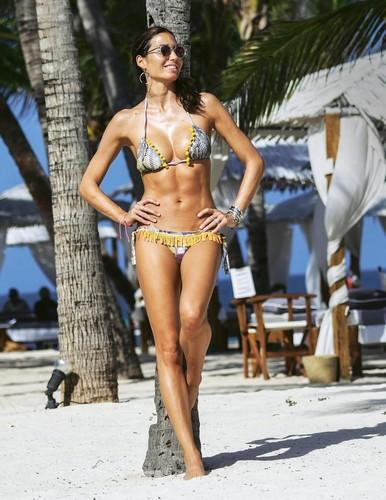 Elisabetta Gregoraci in Bikini a Malindi, Gennaio 2017