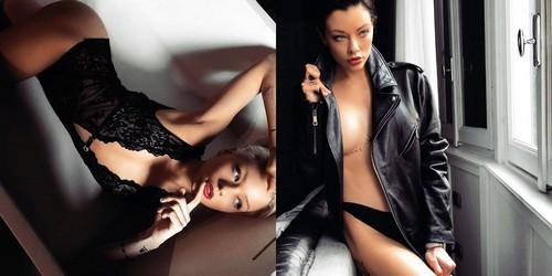 Le Donatella in lingerie : Servizio fotografico sconosciuto