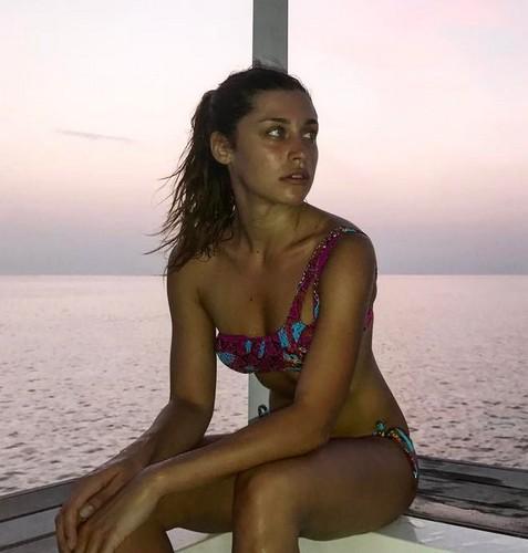 Ludovica Frasca in Bikini alle Maldive, 23 marzo 2017