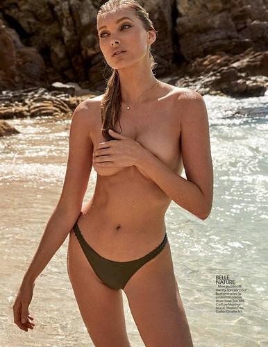 Elsa Hosk in Topless su Madame Figaro Aprile 2017