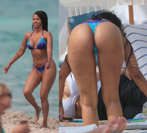 Fanny Neguesha in Bikini : Curve da Capogiro Paparazzata a Miami