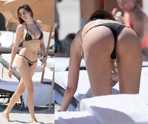 Aida Yespica in Bikini : Lato B e Curve Esplosive Paparazzata a Miami - 07 maggio 2017