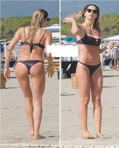 Elena Santarelli : Lato B da Favola e Topless Involontario in Bikini in Versilia : Paparazzata da Oggi - Luglio 2017
