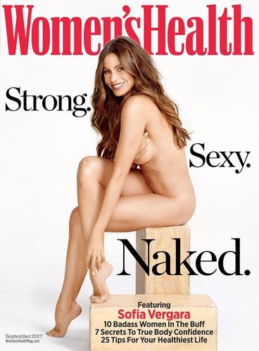 Sofia Vergara completamente nuda su Women's Health Australia - Settembre 2017