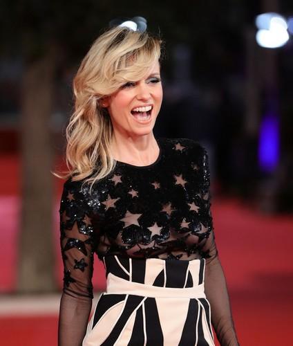 Justine Mattera : Trasparenze mozzafiato sul red carpet al Festival del Cinema di Roma - 30 ottobre 2017
